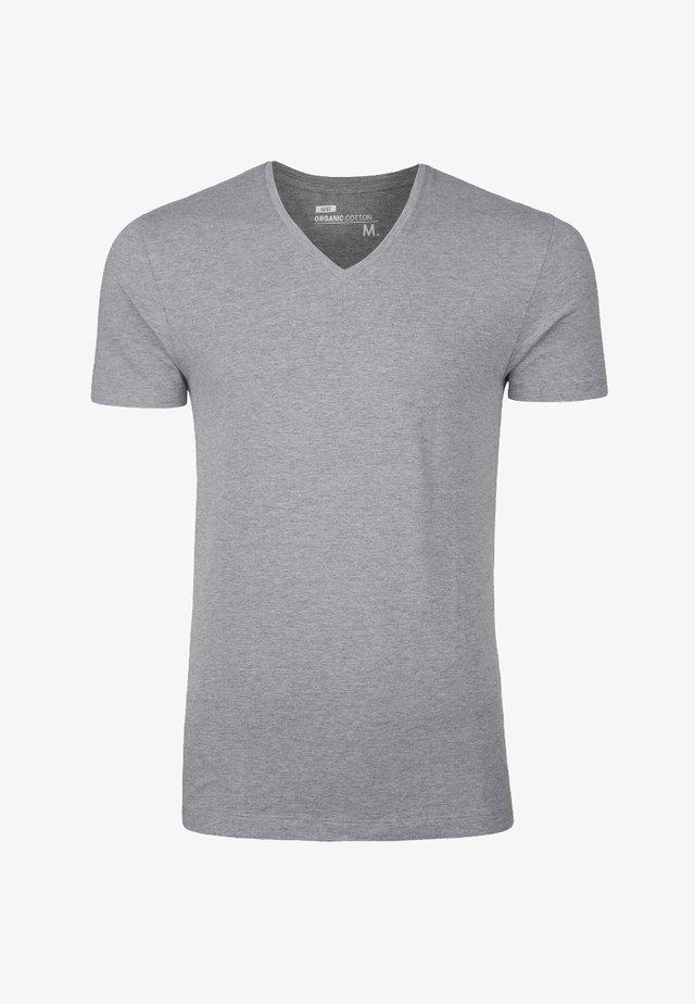 HERREN-BASIC T-SHIRT - T-shirt basic - blended light grey