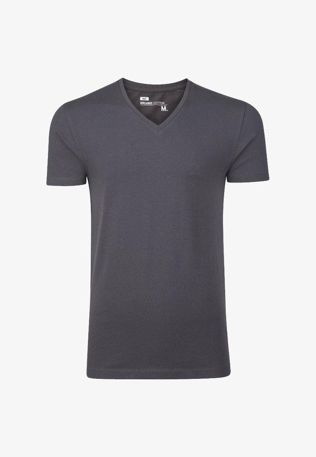 HERREN-BASIC T-SHIRT - T-shirt basic - blended dark grey