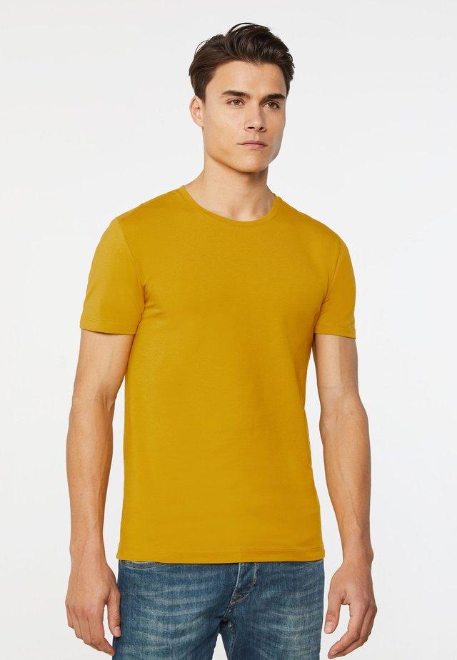 T-shirt basic - mustard yellow