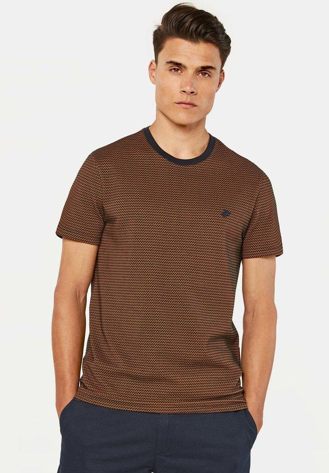 MET STRUCTUUR - T-shirt imprimé - brown