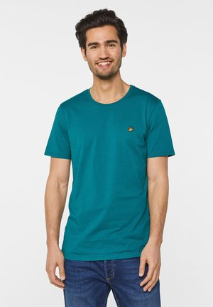 WE FASHION HERREN-T-SHIRT AUS BIO-BAUMWOLLE - T-shirt basic - green