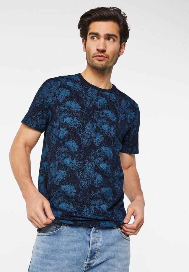 WE FASHION HEREN T-SHIRT MET DESSIN - T-shirt print - dark blue