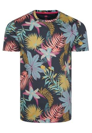 MIT BLÄTTERMUSTER - Camiseta estampada - multi-coloured