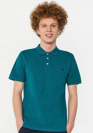 WE FASHION HERREN-PIQUÉ-POLOSHIRT AUS BIO-BAUMWOLLE - Koszulka polo - light green