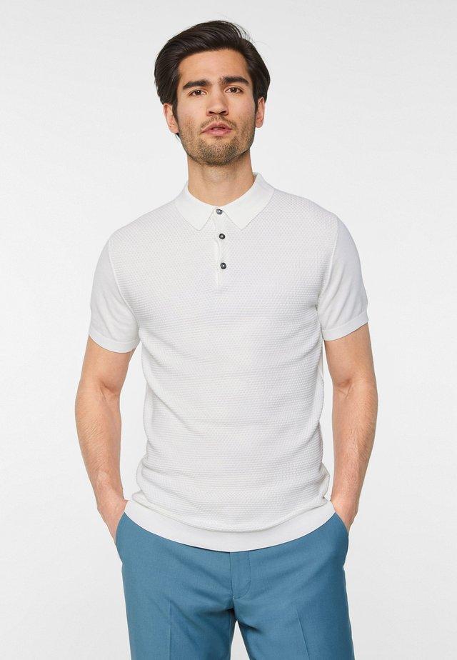 WE FASHION HEREN POLOTRUI MET STRUCTUUR - Polo shirt - white