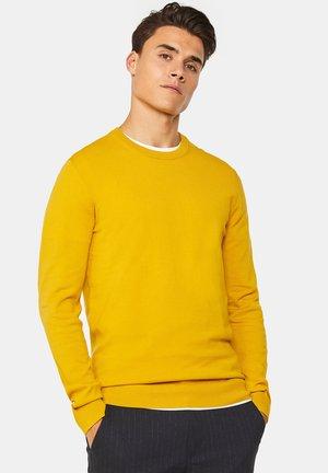 WE FASHION HERREN-FEINSTRICKPULLOVER AUS BAUMWOLL-MIX - Trui - mustard yellow