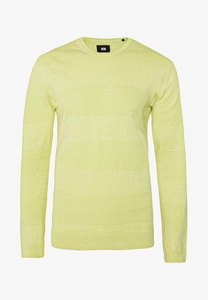 WE FASHION HEREN TRUI MET STRUCTUUR - Maglione - yellow