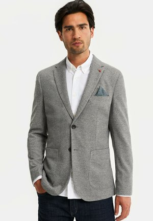 WE FASHION HEREN GEMÊLEERDE SLIM FIT BLAZER - blazer - blended dark grey