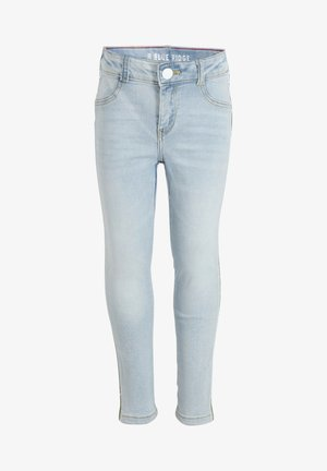 WE FASHION MEISJES SUPER SKINNY FIT CROPPED JEGGING MET TAPEDETA - Jeggings - light blue