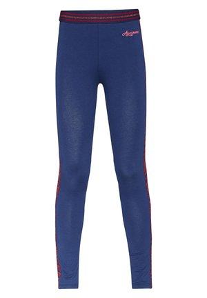 WE FASHION MEISJES ZEBRA DESSIN LEGGING - Leggings - Trousers - dark blue