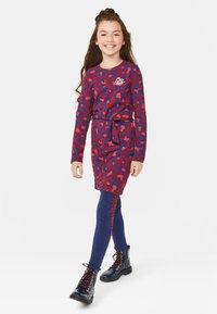 WE Fashion - WE FASHION MEISJES ZEBRA DESSIN LEGGING - Legging - dark blue - 1