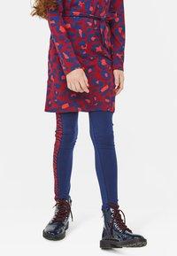 WE Fashion - WE FASHION MEISJES ZEBRA DESSIN LEGGING - Legging - dark blue - 2