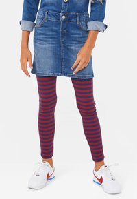 WE Fashion - WE FASHION MEISJES STREEP DESSIN LEGGING - Legging - vintage red - 1