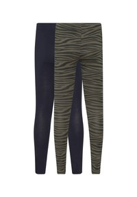 WE Fashion - WE FASHION MEISJES LEGGING, 2 PACK - Leggings - Trousers - army green - 1