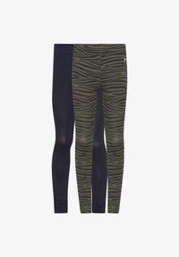 WE Fashion - WE FASHION MEISJES LEGGING, 2 PACK - Leggings - Trousers - army green - 0