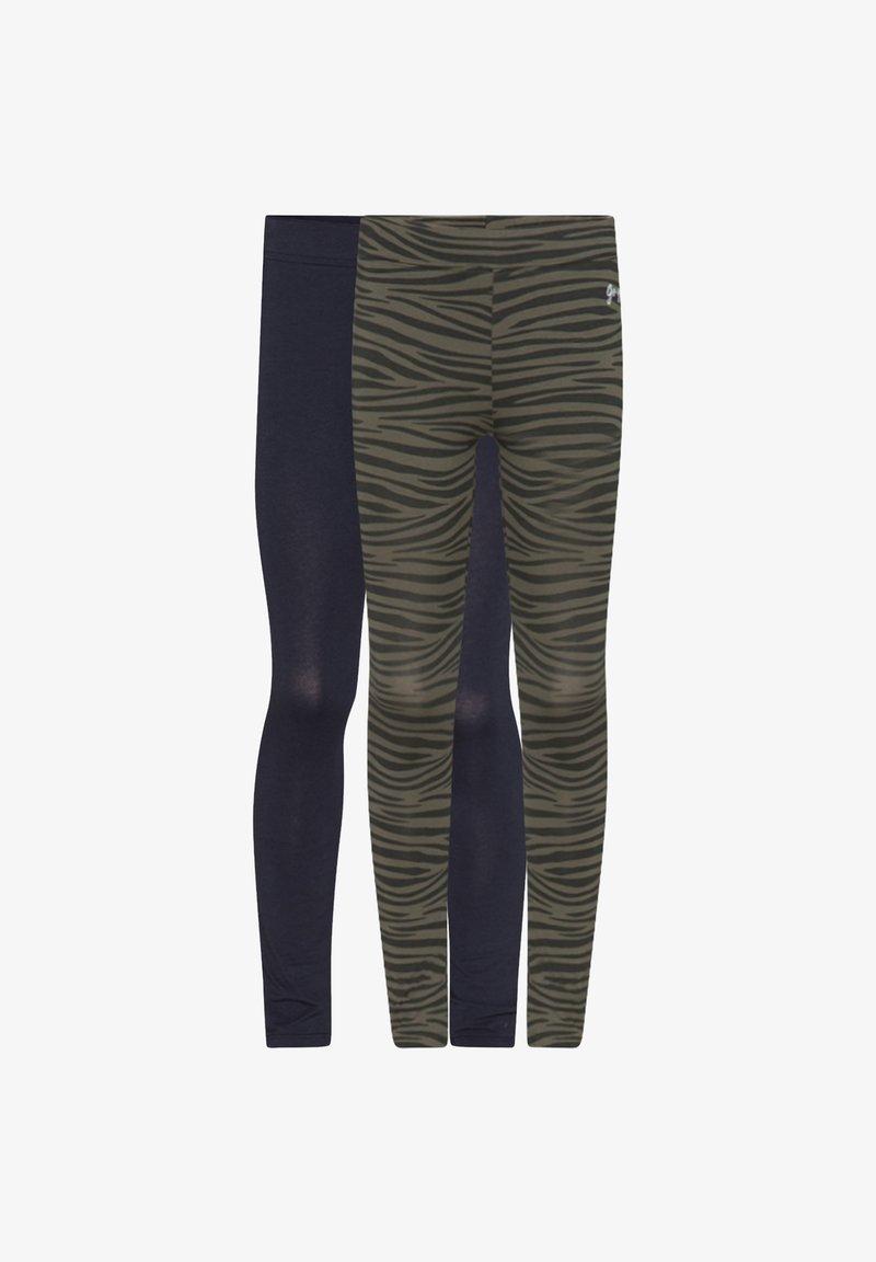 WE Fashion - WE FASHION MEISJES LEGGING, 2 PACK - Leggings - Trousers - army green