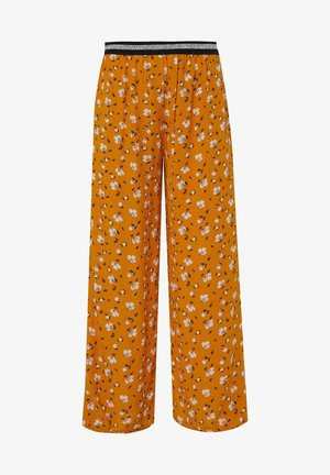 WE FASHION MÄDCHENHOSE MIT LEOPARDENMUSTER - Stoffhose - yellow
