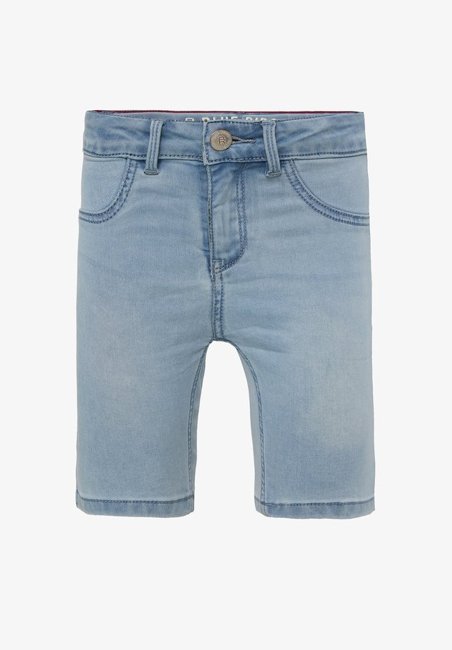 WE FASHION MÄDCHEN-SUPERSKINNY-JEANSSHORTS - Denim shorts - light blue