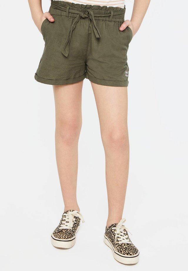 WE FASHION MEISJES SHORT VAN LINNENMIX - Shorts - army green