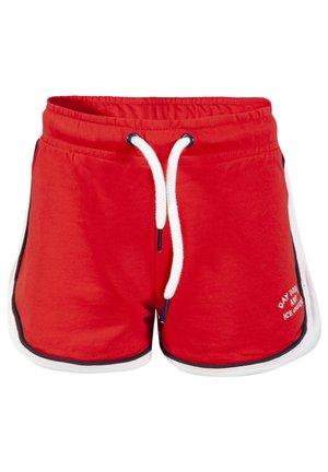 MIT SCHRIFTZUG - Shorts - red