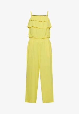 MIT RÜSCHE - Jumpsuit - yellow