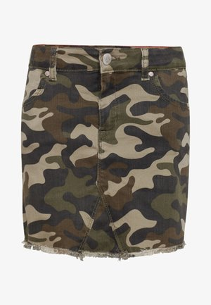 REGULAR FIT - Gonna di jeans - army green
