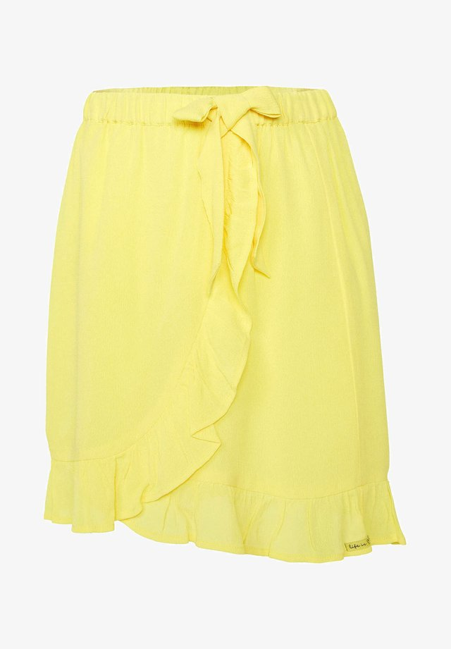 Wrap skirt - bright yellow