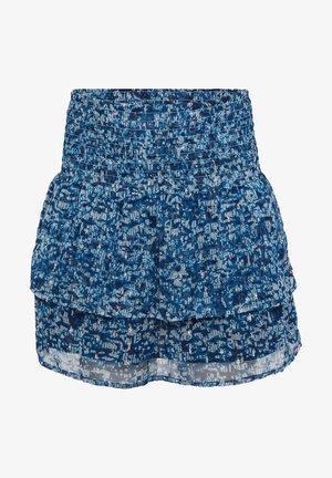 WE FASHION MÄDCHENROCK MIT MUSTER UND GLITZER-DETAILS - A-snit nederdel/ A-formede nederdele - dark blue