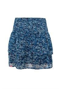 WE Fashion - WE FASHION MÄDCHENROCK MIT MUSTER UND GLITZER-DETAILS - A-snit nederdel/ A-formede nederdele - dark blue - 1