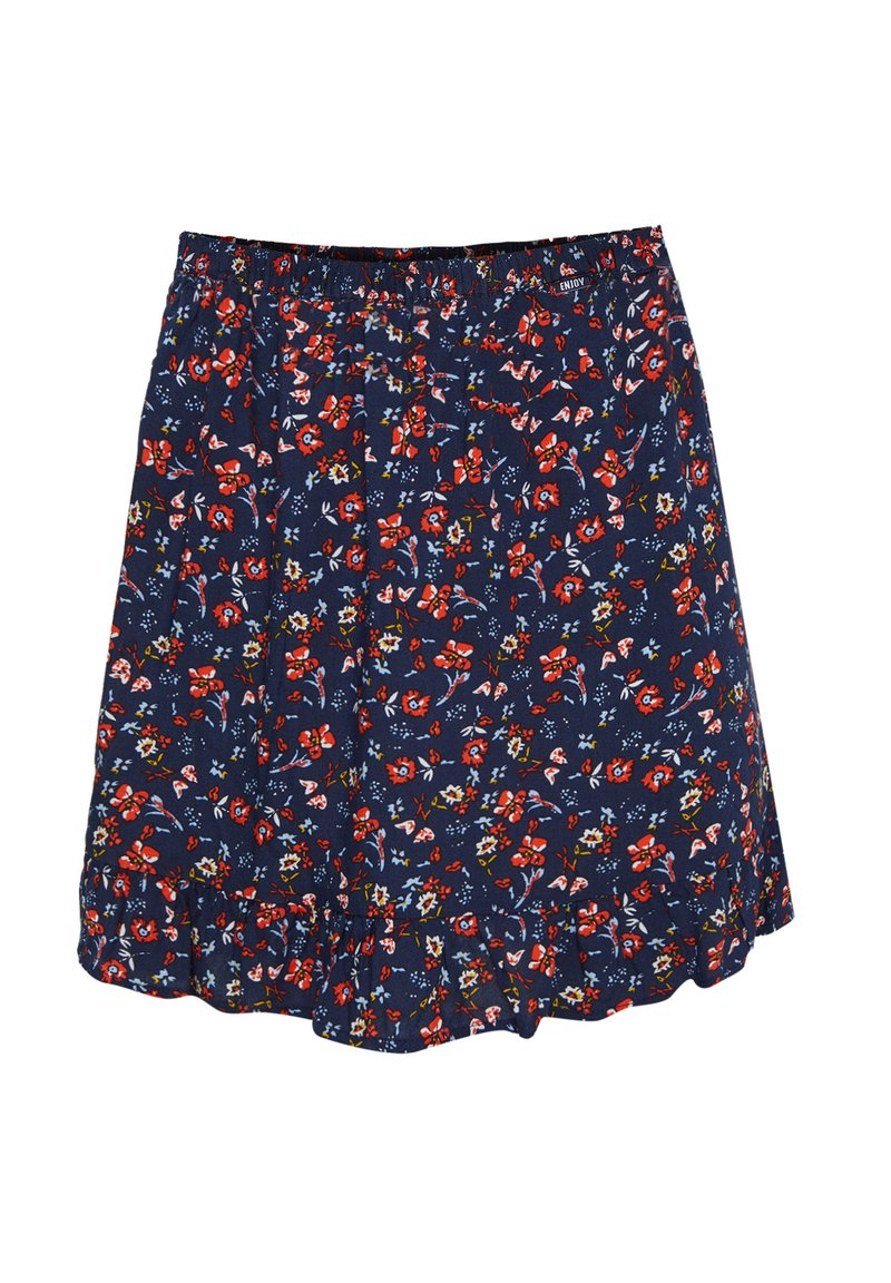 WE Fashion - MET DESSIN - A-line skirt - dark blue