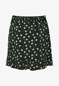 WE Fashion - MET DESSIN - A-snit nederdel/ A-formede nederdele - black, green, white - 0