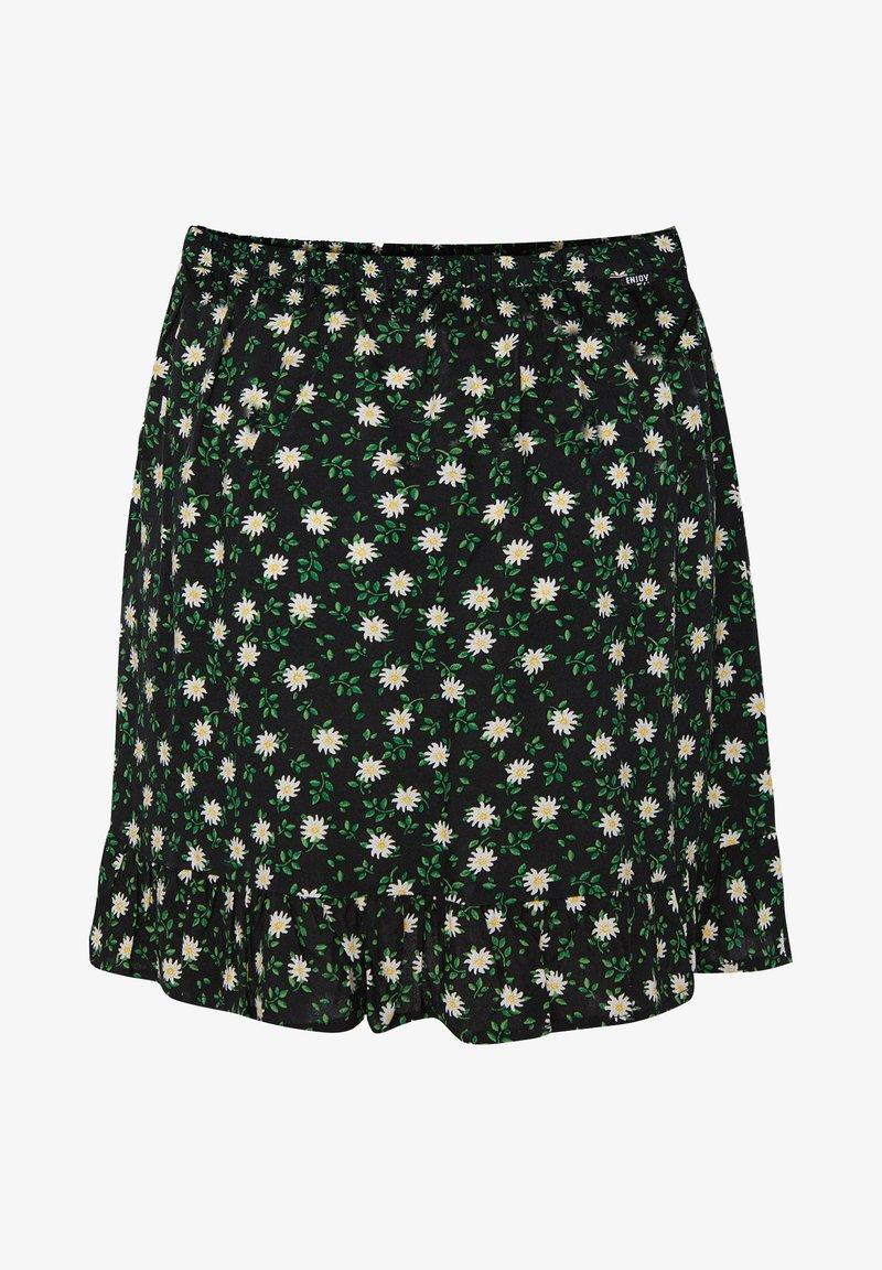 WE Fashion - MET DESSIN - A-snit nederdel/ A-formede nederdele - black, green, white