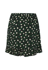 WE Fashion - MET DESSIN - A-snit nederdel/ A-formede nederdele - black, green, white - 1