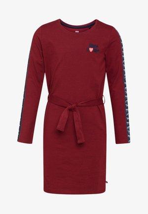 Day dress - burgundy red