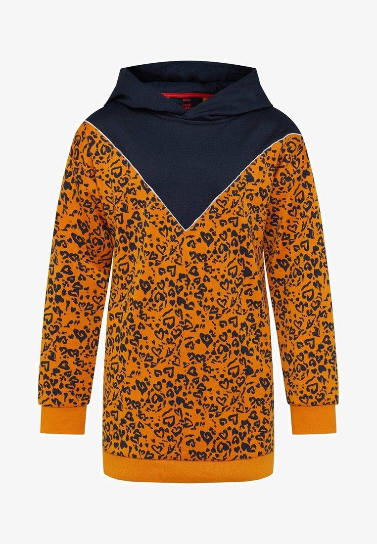WE Fashion - MET CAPUCHON - Korte jurk - orange