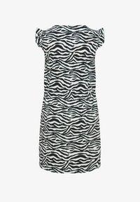 WE Fashion - WE FASHION MEISJES JURK MET ZEBRADESSIN - Day dress - black/white - 1