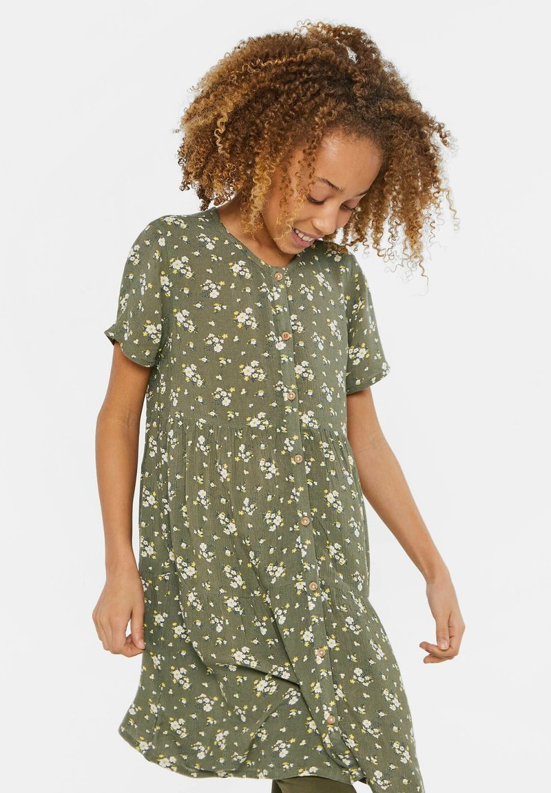 WE Fashion - WE FASHION MÄDCHENKLEID MIT BLUMENMUSTER - Shirt dress - army green