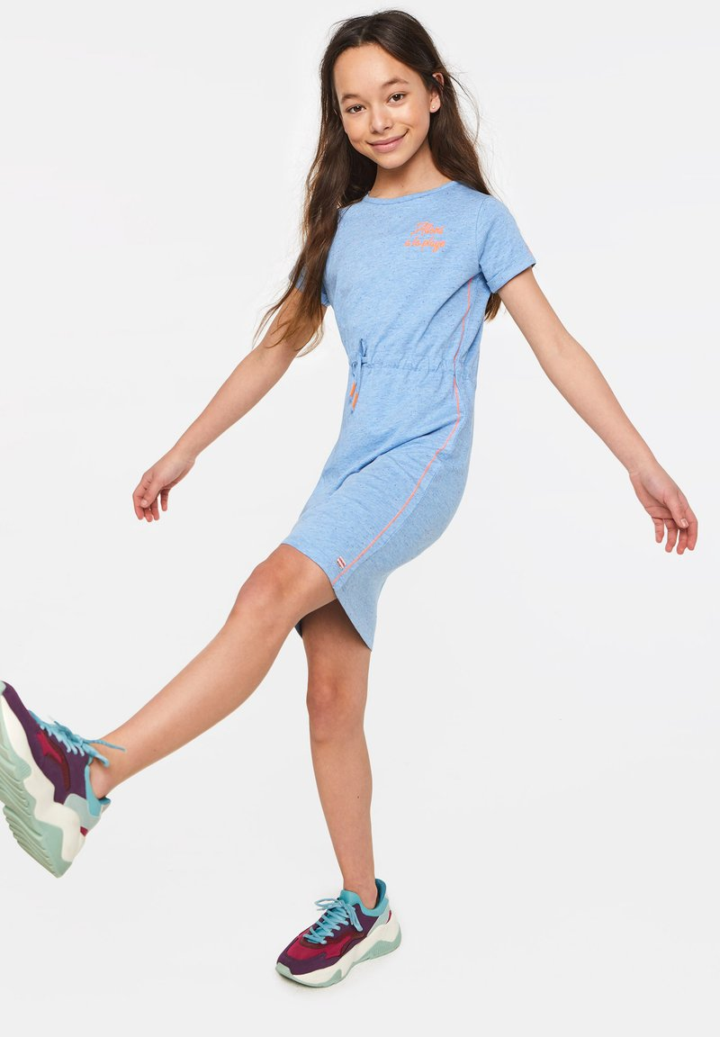 WE Fashion - MIT NOPPENSTRUKTUR - Sukienka letnia - light blue