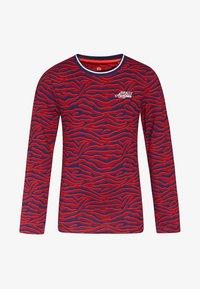 WE Fashion - ZEBRA DESSIN - T-shirt à manches longues - vintage red - 0