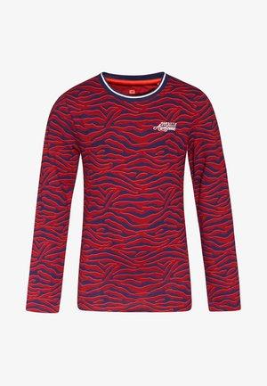 ZEBRA DESSIN - Long sleeved top - vintage red