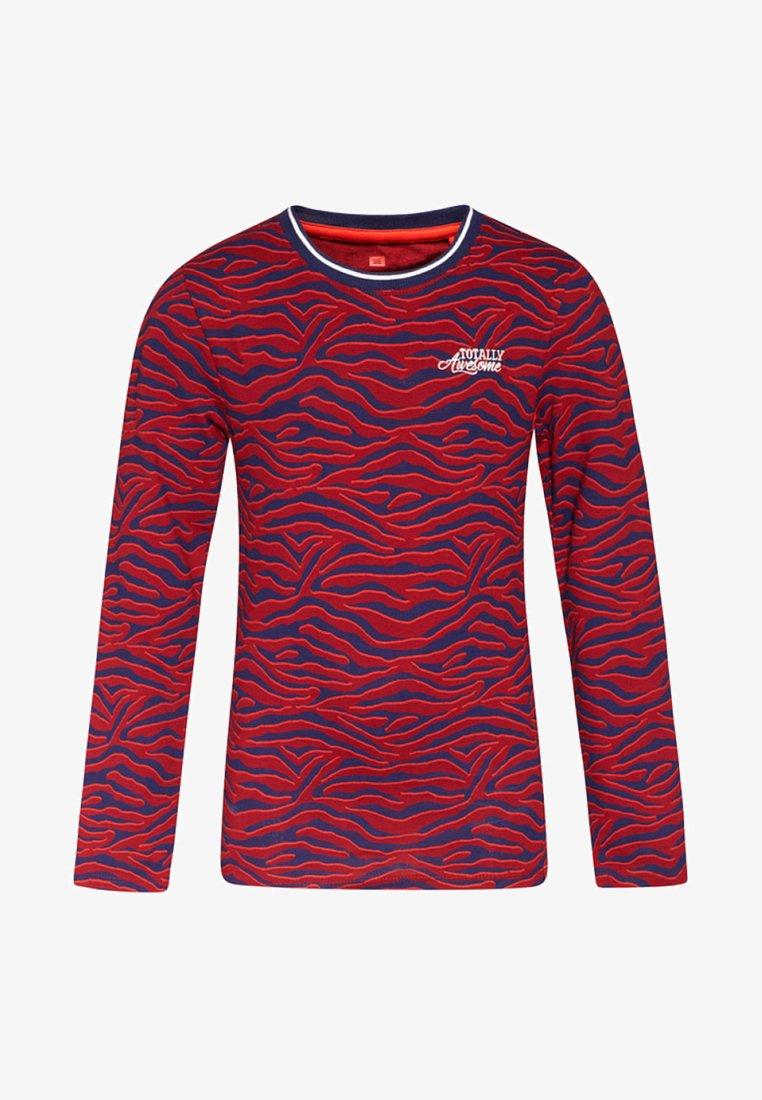 WE Fashion - ZEBRA DESSIN - T-shirt à manches longues - vintage red