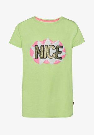 MET PAILLETTEN - Print T-shirt - green