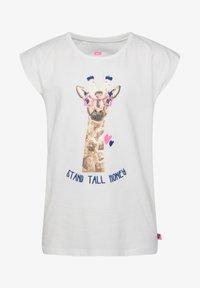 WE Fashion - MIT PAILLETTEN-APPLIKATION - Print T-shirt - white - 0