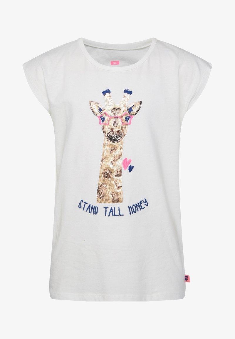 WE Fashion - MIT PAILLETTEN-APPLIKATION - Print T-shirt - white