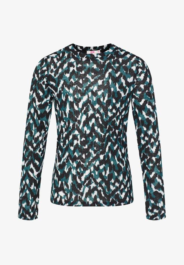 Langærmede T-shirts - teal blue