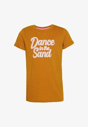 T-shirt con stampa - mustard yellow