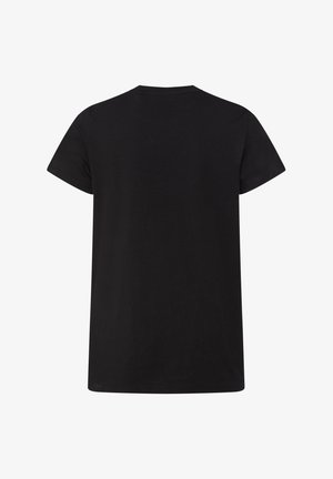 WE FASHION MEISJES T-SHIRT MET TEKSTAPPLICATIE - T-shirt print - black