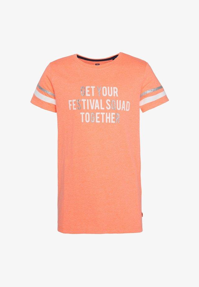 MET TEKSTOPDRUK - Camiseta estampada - bright orange