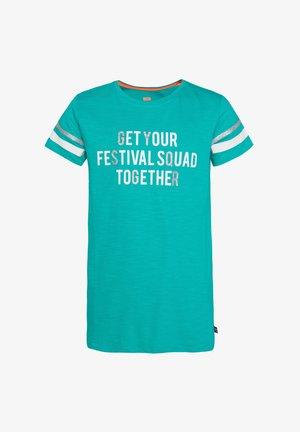 MET TEKSTOPDRUK - T-shirt imprimé - green