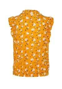 WE Fashion - WE FASHION MEISJES BLOUSE MET BLOEMENDESSIN EN VOLANT - Button-down blouse - ochre yellow - 3